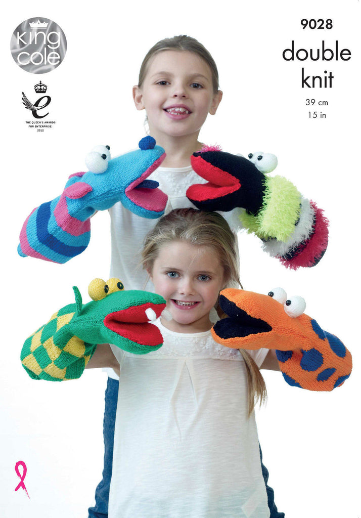 King Cole DK Pattern 9028 - Hand Puppets