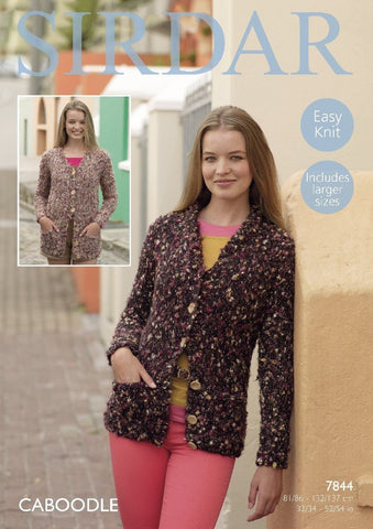 Sirdar Caboodle Pattern 7844 - Cardigans - REDUCED - NOW €1.00
