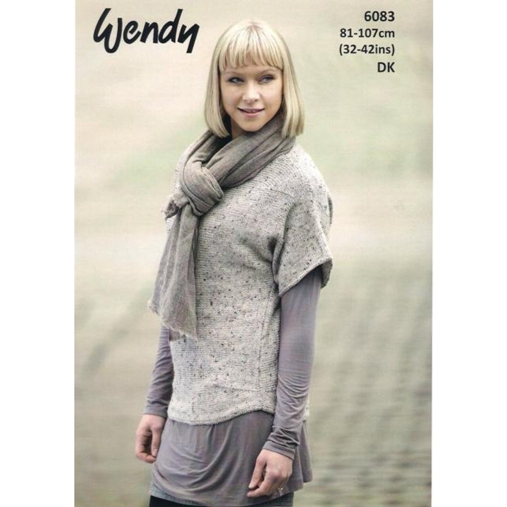 Wendy Harris DK Pattern 6083 - Scoop Hem Sweater