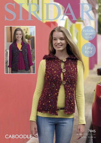 Sirdar Caboodle Pattern 7845 - Waistcoats - REDUCED - NOW €1.00