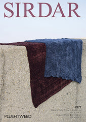 Sirdar Plushtweed Pattern 7877 - Throws - NOW €1.00