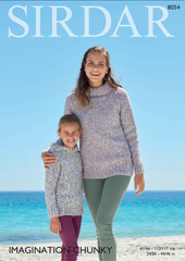 Sirdar Imagination Chunky Pattern 8054 - Sweaters