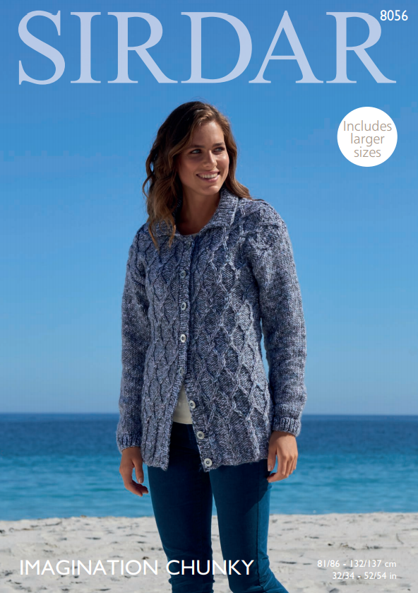Sirdar Imagination Chunky Pattern 8056 - Cardigan