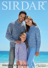 Sirdar Imagination Chunky Pattern 8059 - Sweaters