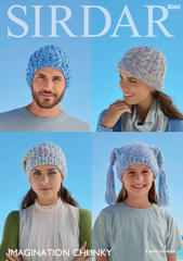 Sirdar Imagination Chunky Pattern 8060 - Hats