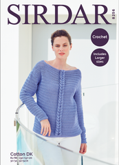 Sirdar Cotton DK Pattern 8256 - Crochet Sweater
