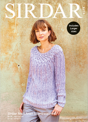 Sirdar No.1 Aran Stonewashed Pattern 8274 - Sweater