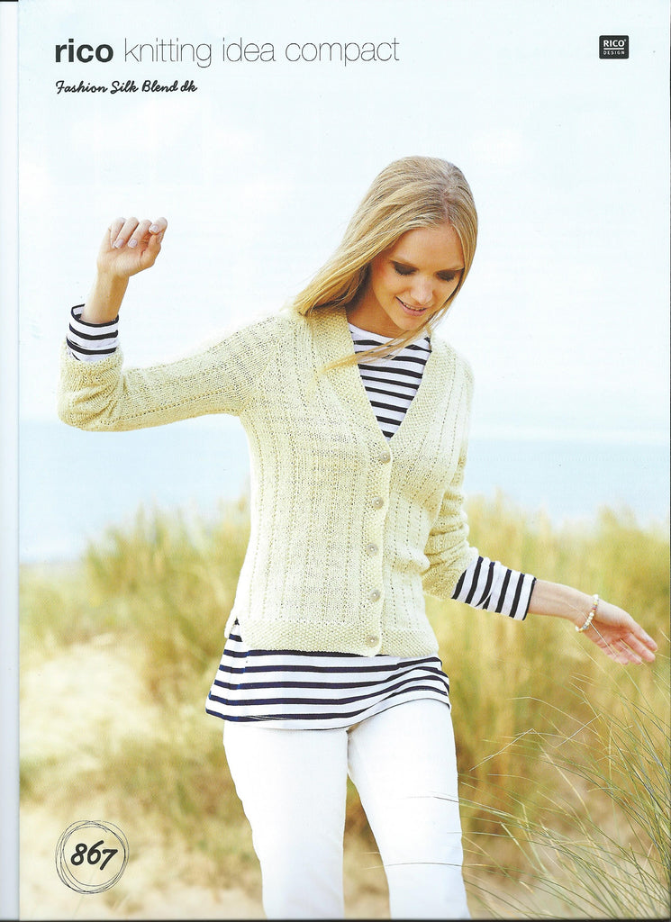 Rico Fashion Silk Blend DK Pattern 867 - Cardigans