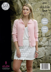 King Cole Majestic DK Pattern 4921 - Ladies' Cardigans