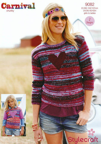 Stylecraft Carnival & Special Chunky Pattern 9082 - Sweaters