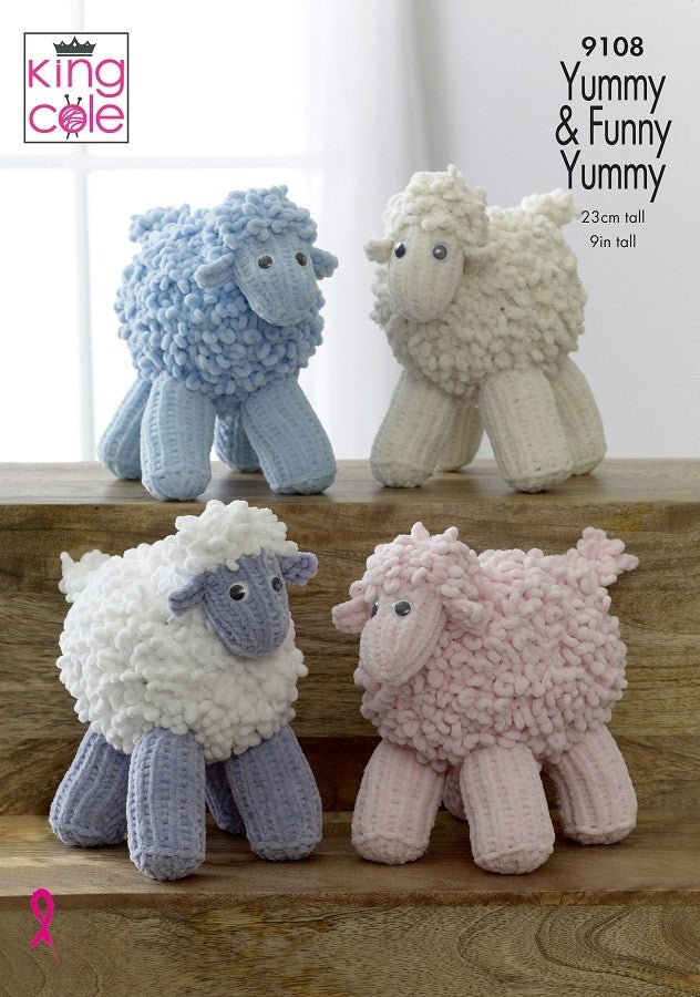 King Cole Funny Yummy & Yummy Chunky Pattern 9108 - Sheep