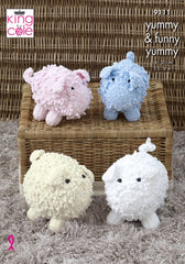 King Cole Funny Yummy & Yummy Chunky Pattern 9111- Pigs