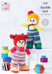 King Cole 9127 Knitting Pattern 9127 - Splishy & Splashy Clowns Toys
