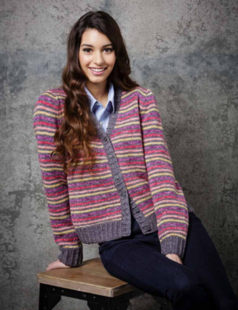 Stylecraft Batik DK Pattern 9290 - Knitted Ladies Sweater & Cardigan