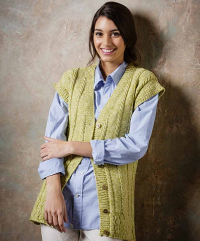 Stylecraft Batik DK Pattern 9291 - Knitted Ladies Sweater & Waistcoat