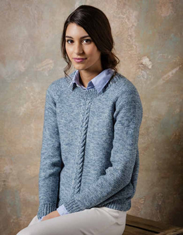 Stylecraft Batik DK Pattern 9292 - Knitted Ladies Sweater & Cardigan