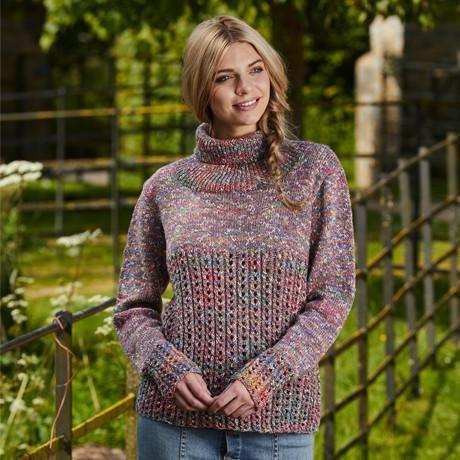 Stylecraft Tweedy DK Pattern 9428 - Sweater & Cardigan