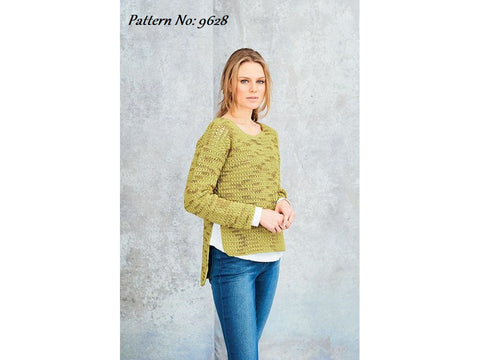 Stylecraft Moonbeam DK Crochet Pattern 9628 - Jumper & Cardigan