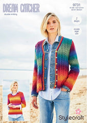 Stylecraft Dream Catcher DK Pattern 9731 - Jumper & Cardigan