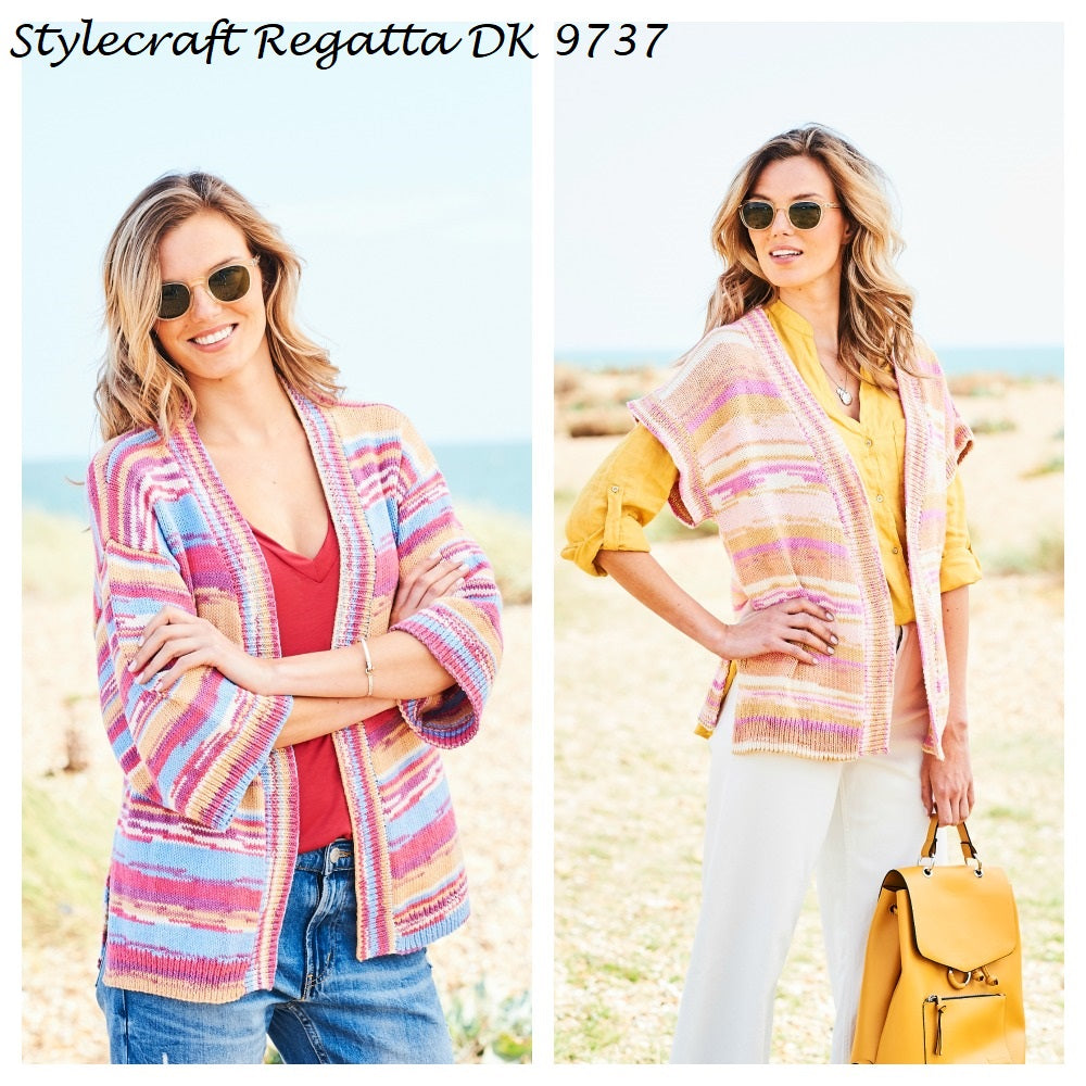 Stylecraft Regatta DK Pattern 9737 - Cardigan and Waistcoat
