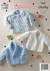King Cole Comfort Chunky Pattern 3047 - Jacket, Cardigan & Sweater