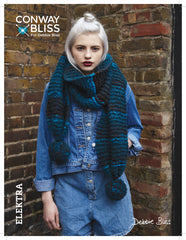 Debbie Bliss Elektra by Conway & Bliss - Pattern CB09 - Pompon Scarf - WAS 4.50 - NOW 2.50