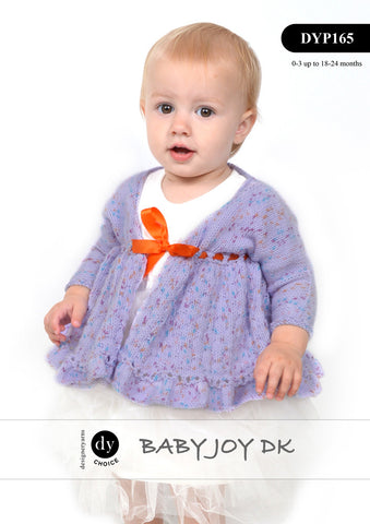 Designer Yarns Choice Baby Joy DK Print Pattern DYP 165 - Baby Jacket and Booties - NOW €1.00