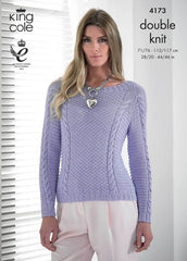 King Cole Bamboo Cotton DK Pattern 4173 - Cardigan & Sweater