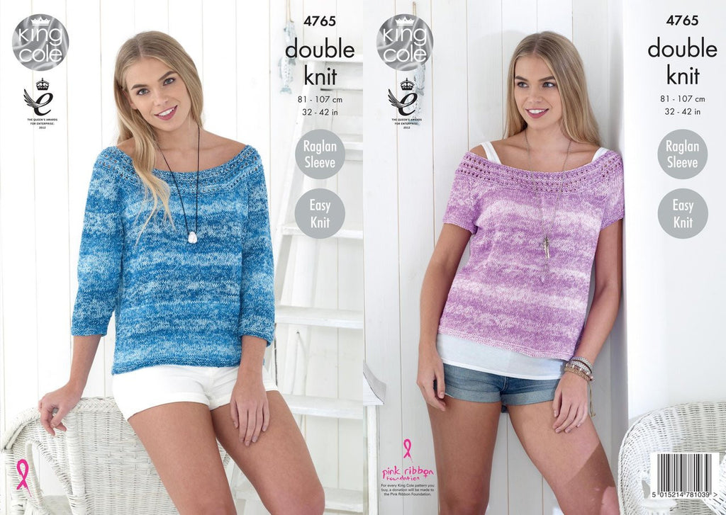 King Cole Vogue DK Pattern 4765 - Ladies' Tops