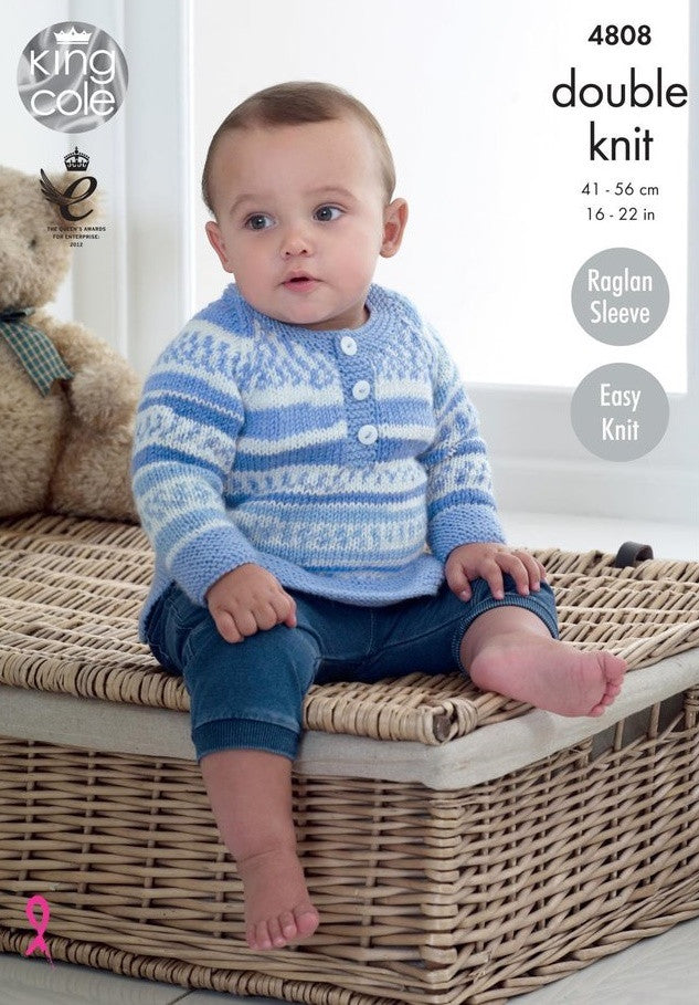 King Cole Cherish & Cherished DK Pattern 4808 - Sweaters & Cardigans
