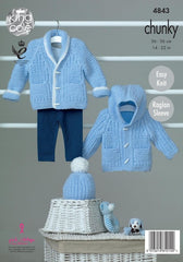 King Cole Big Value Baby Chunky Pattern 4843 - Jackets & Hat