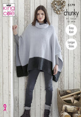 King Cole's Timeless Chunky Pattern 5179  - Ladies Ponchos