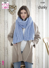 King Cole Timeless Chunky Pattern 5183 - Shawls