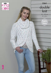 King Cole Cottonsoft Candy DK Pattern 5361 -  Sweater & Cardigan