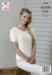 King Cole Cottonsoft Candy DK Pattern 5363 - Top & Tunic