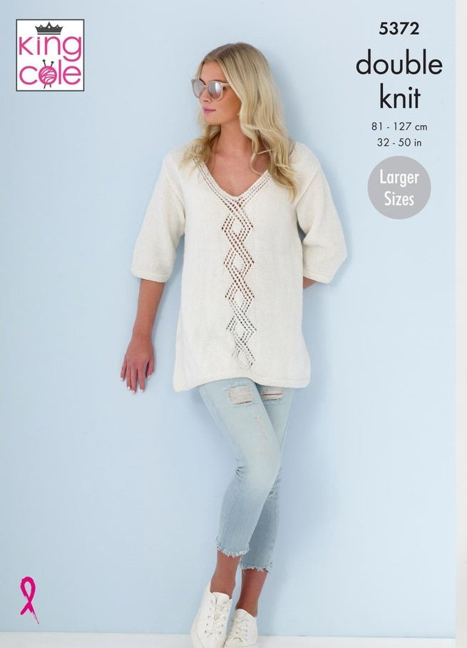 King Cole Cotton Top DK Pattern 5372 - ladies Tops