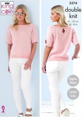 King Cole Cotton Top DK Pattern 5374 - ladies Tops