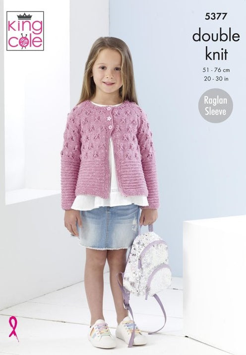 King Cole Cotton Top DK Pattern 5377 - Cardigans