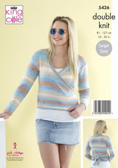 King Cole Beaches DK Pattern 5426 - Ladies Wrap Cardigans