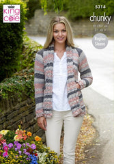 King Cole Drifter Chunky Pattern 5314 - Sweater & Coatigan