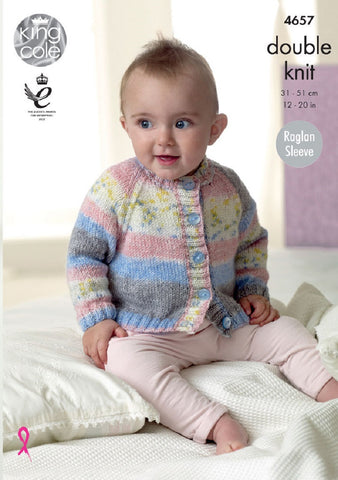 King Cole Splash DK Pattern 4657 - Cardigans