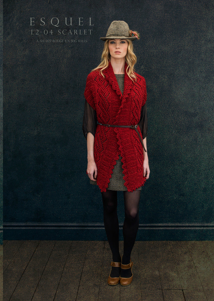 Louisa Harding Esquel Pattern L2-04 - Scarlet - SALE - NOW ONLY €1.00