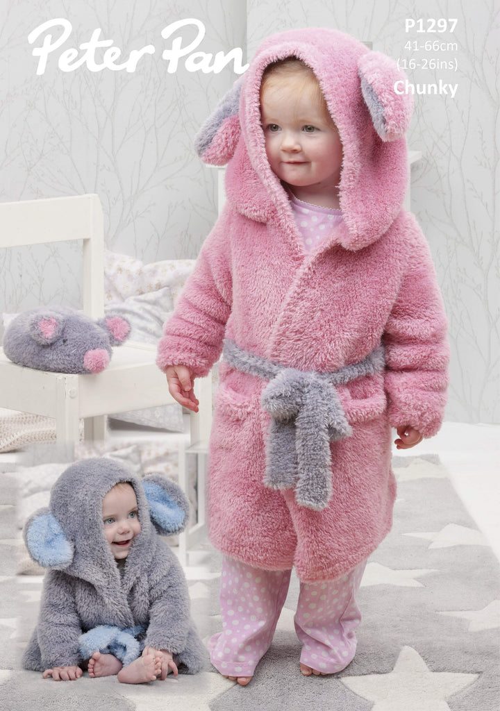 Peter Pan Precious Chunky Pattern P1297 - Dressing Gowns & Mouse