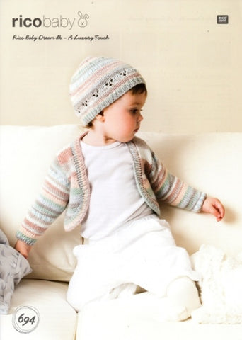 Rico Baby Dream DK - A Luxury Touch Pattern 694 - Cardigan & Hat