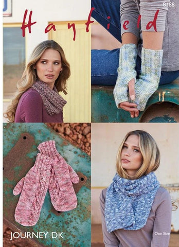 Hayfield Journey DK Pattern 8188 - Accessories