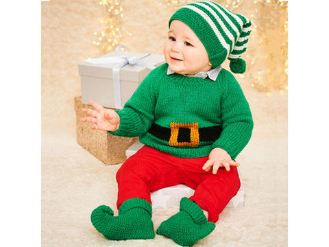 Stylecraft Wondersoft Stardust & Special DK Pattern 9575 Christmas Sweater, Hat & Boots