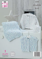 King Cole Cottonsoft Candy DK Pattern 5204  Cardigans, Blanket & Hat