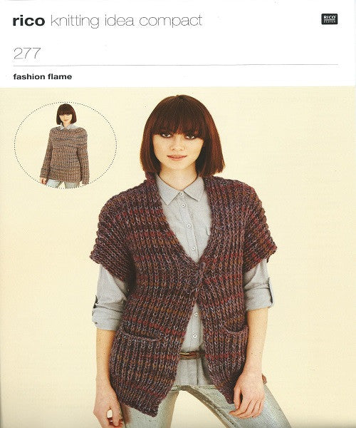 Rico Fashion Flame Knitting Pattern 277 Crafty