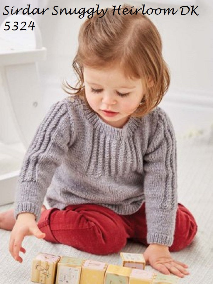 Sirdar Snuggly Heirloom DK Pattern 5324 - Smocked Sweater