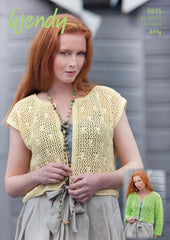 Wendy Supreme Cotton 4 ply Pattern 5975 - Lacy Cardigans